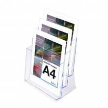 SCRITTO stojanček na letáky A4, 3 kapsy