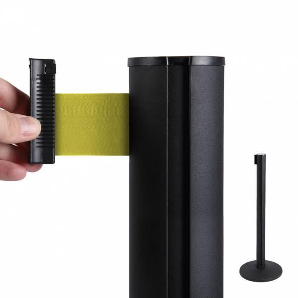 Bariéra čierna, 2,7 m výsuvný pás žltý