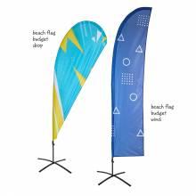 Reklamná ekonomická vlajka v tvare krídla a kvapky