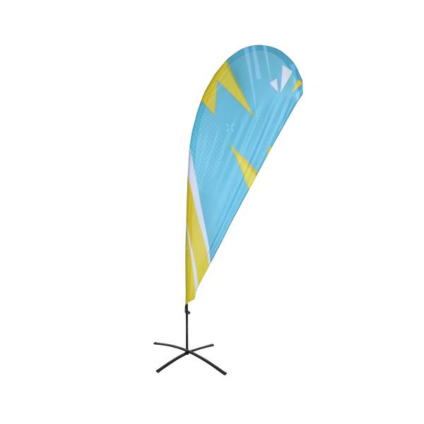 Tlač k reklamnej ekonomickej vlajke, tvar kvapka