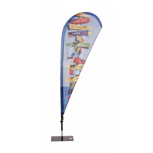 Sklo laminátová konštrukcia s vlajkou kvapka / krídlo