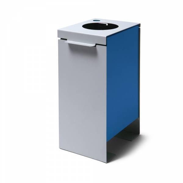 Kôš na triedený odpad plechový, modrý