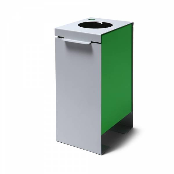 Kôš na triedený odpad plechový, zelený
