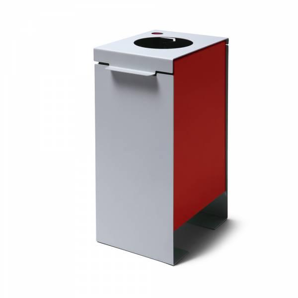 Kôš na triedený odpad plechový, červený