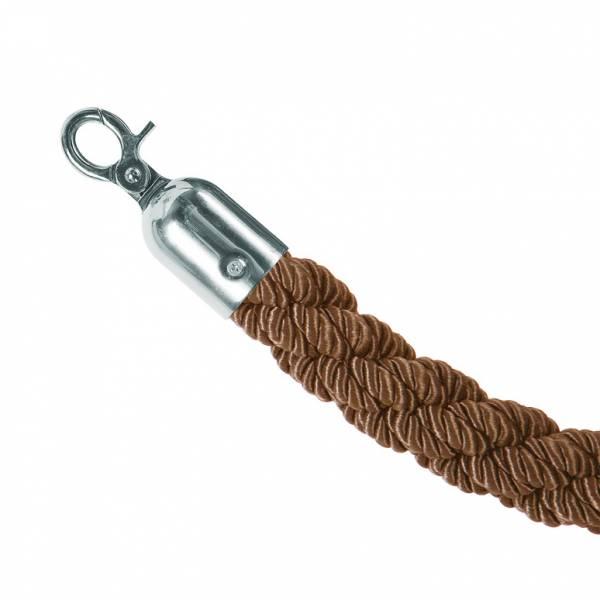 Bronzové lano na barierový stĺpik, chromové koncovky