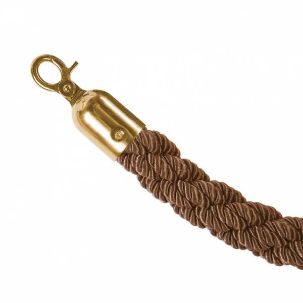 Bronzové lano na barierový stĺpik, zlaté koncovky