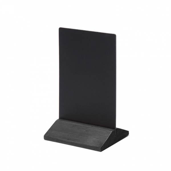 Drevený menu stojanček ekonomický čierny, 100 mm