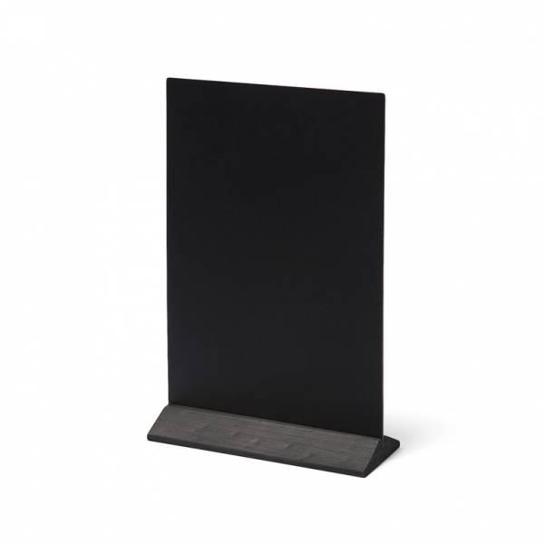 Drevený menu stojanček ekonomický čierny, 210 mm