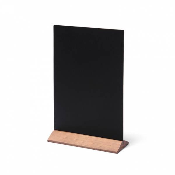 Drevený menu stojanček ekonomický svetlohnedý, 210 mm