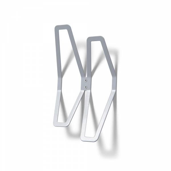Nástenný dizajnový vešiak dvojitý, sivý