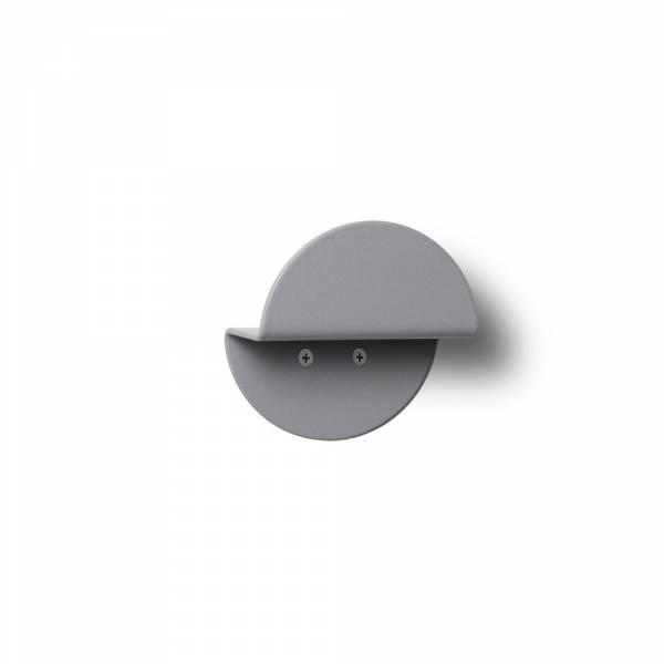 Nástenný okrúhly vešiak, sivý