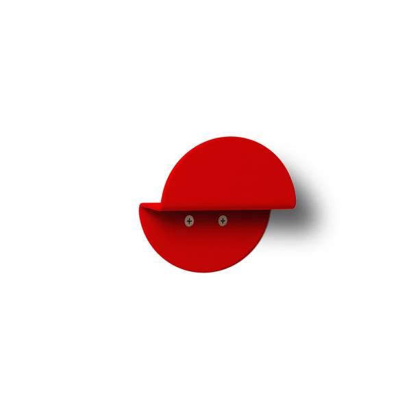 Nástenný okrúhly vešiak, červený