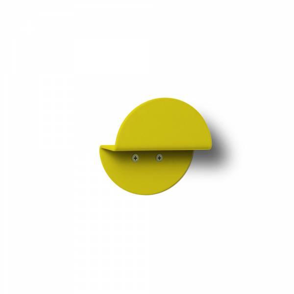 Nástenný okrúhly vešiak, žltý