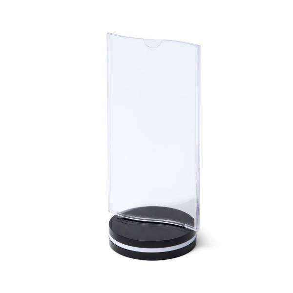 SCRITTO Plastový menu stojanček 10x20mm, s ohybom