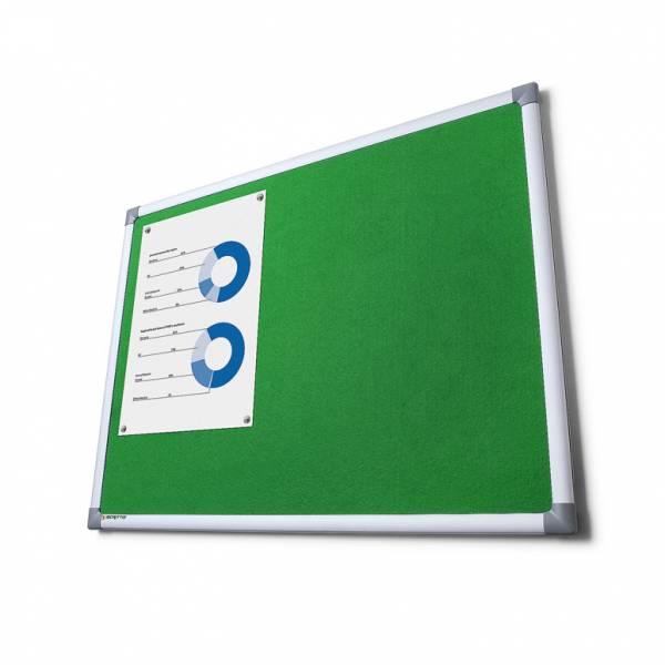 Textilná tabuľa SCRITTO zelená, 1000x1500mm