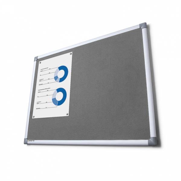 Textilná tabuľa SCRITTO sivá, 900x1800mm