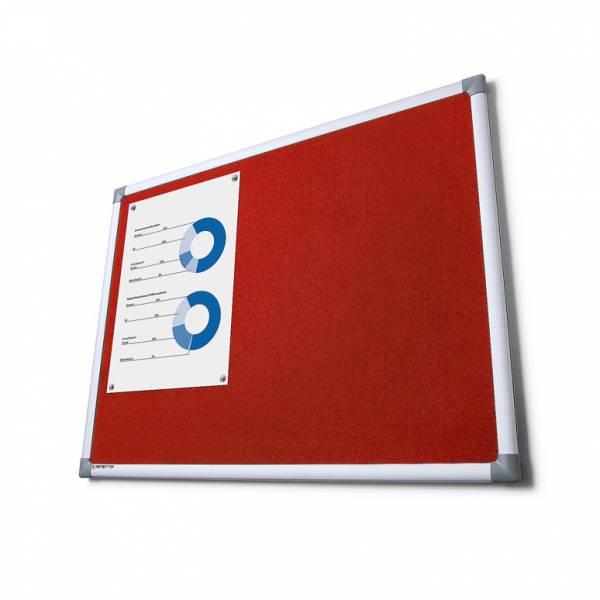 Textilná tabuľa SCRITTO červená, 600x900mm