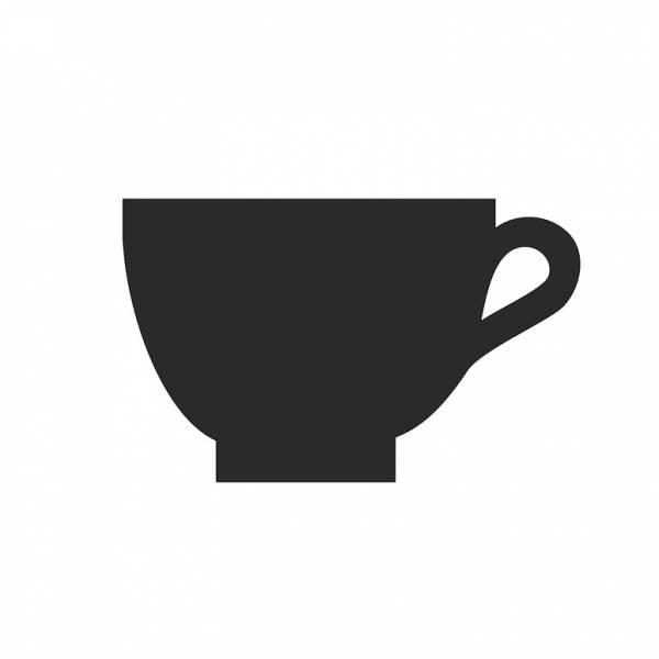 Doska HPL čierna popisovateľná, Kaviareň, 100 mm