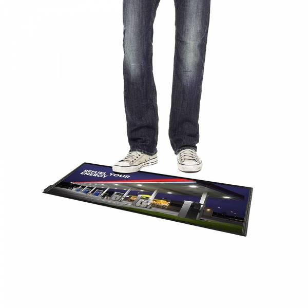 Podlahový plagátový systém FloorWindo®, formát 4xA4