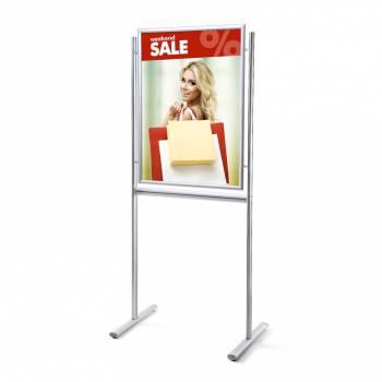 Informačný stojan Infoboard s klaprámom 70x100, ostrý roh, profil 25mm