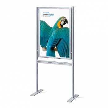 Infoboard s klaprámom 700x1000 mm, ostrý roh, profil 37 mm, obojstranný