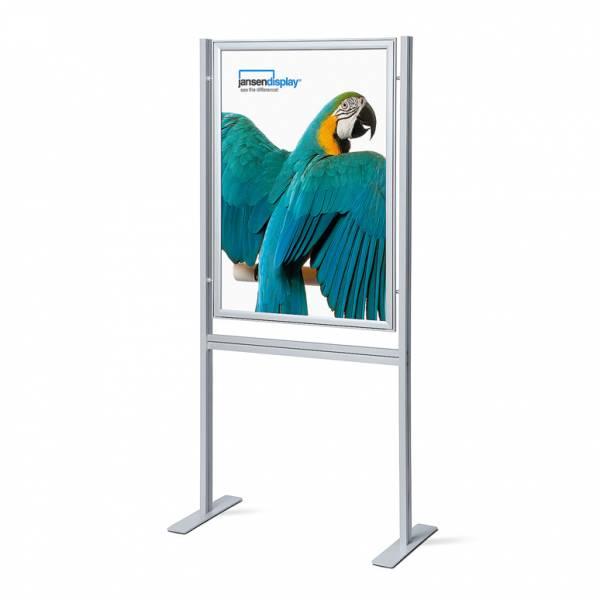 Infoboard s klaprámom 700x1000 mm, ostrý roh, profil 37 mm