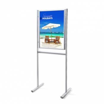 Informačný stojan Infoboard s klaprámom A1, ostrý roh, profil 25mm, obojstranný