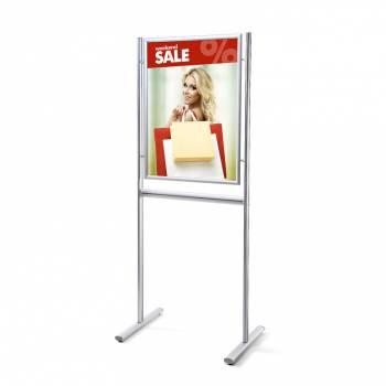 Informačný stojan Infoboard s klaprámom A1, ostrý roh, profil 25mm
