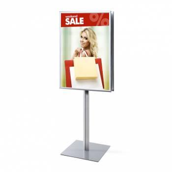 Informačný stojan Infopole s klaprámom 70x100, ostrý roh, profil 25mm, obojstranný
