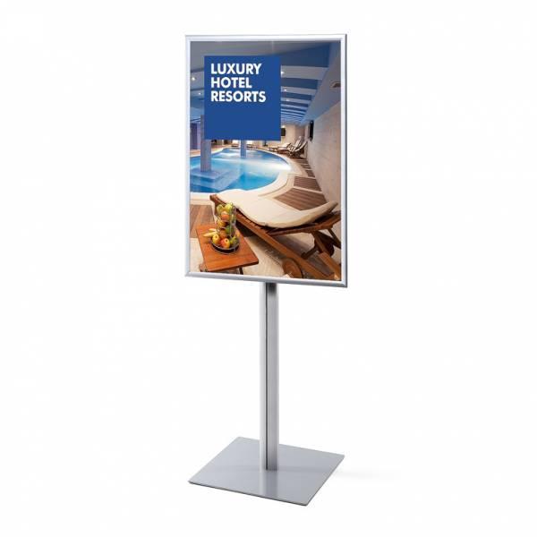 Informačný stojan Infopole s klaprámom 70x100, ostrý roh, profil 25mm