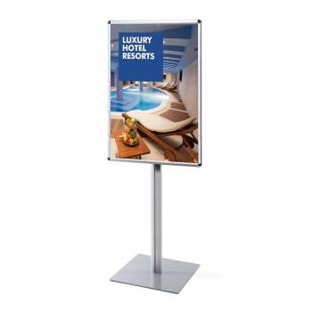 Informačný stojan Infopole s klaprámom 70x100, oblý roh, profil 25mm