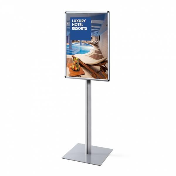 Informačný stojan Infopole s klaprámom A1, oblý roh, profil 25mm