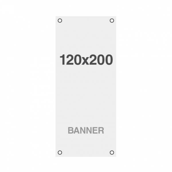 Ekonomická bannerová tlač Symbio 510g/m2, 1200x2000mm, všité oká