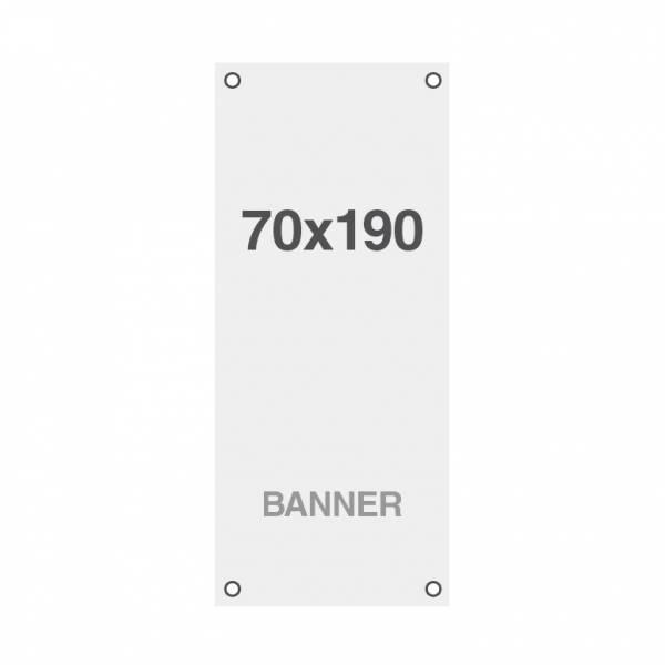 Prémiová bannerová tlač No Curl 220g/m2, matný povrch, 70x190 cm, všité oká