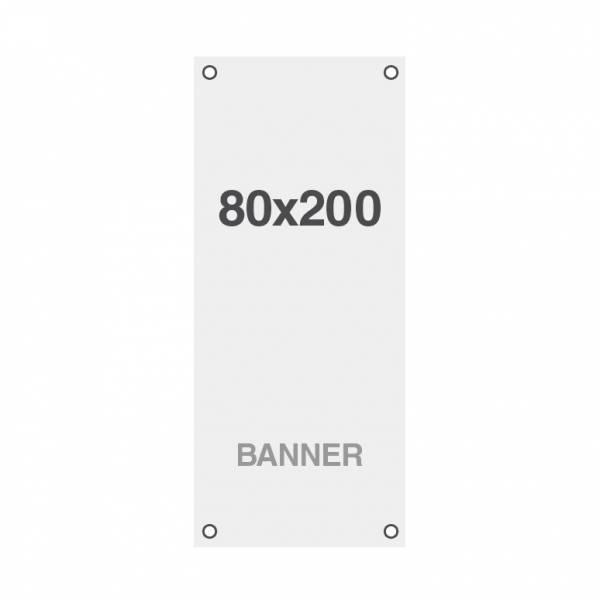 Prémiová bannerová tlač No Curl 220g/m2, matný povrch, 80x200 cm, všité oká