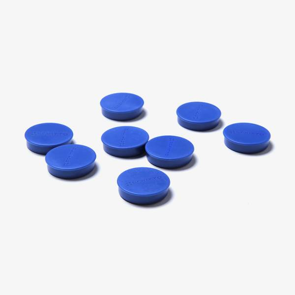 Set magnetov priemer 35mm, 8ks, modré