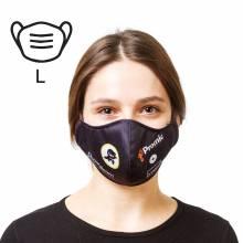Bavlnená ochranná maska s firemnou potlačou- L, biela