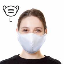 Bavlnená ochranná maska - L, biela