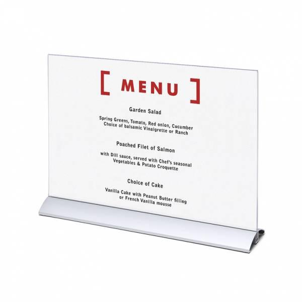 Elegantný menu stojanček na leták A3 na šírku