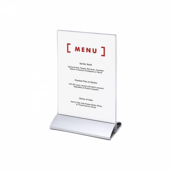 Elegantný menu stojanček na leták A5 na výšku