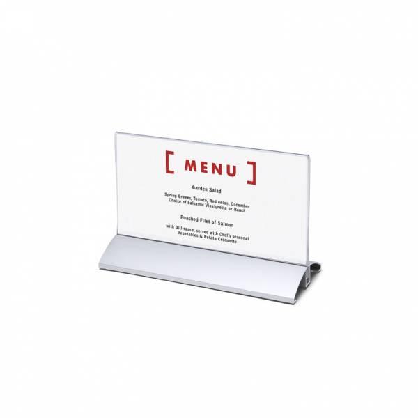 Elegantný menu stojanček na leták DL na širku