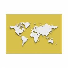 Prostírání Mapa světa béžová
