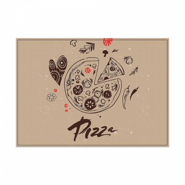 Prostírání Pizza abstraktní