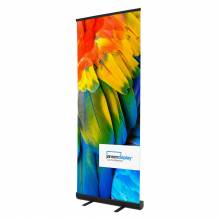 Roll Up Banner Eco 80x200 cm, čierny