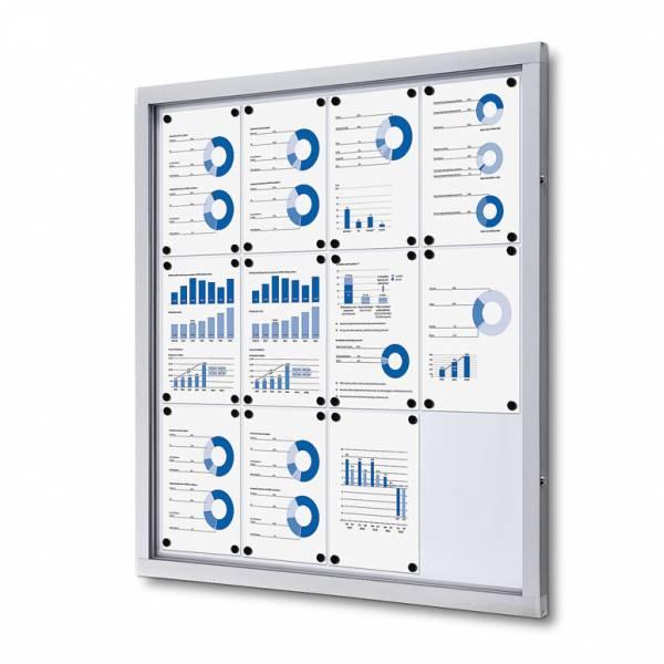 Informačná vitrína 12xA4, plechová zadná stena