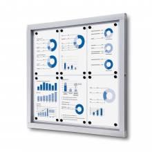 Informačná vitrína 6xA4, plechová zadná stena