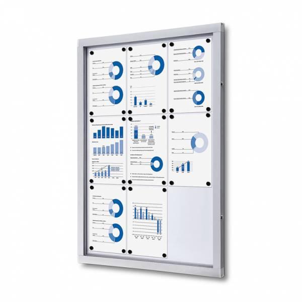 Informačná vitrína 9xA4, plechová zadná stena