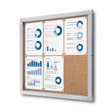 Informačná vitrína 6xA4, korková zadná stena