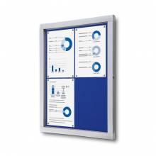 Informačná vitrína 4xA4, modrá textilná zadná stena