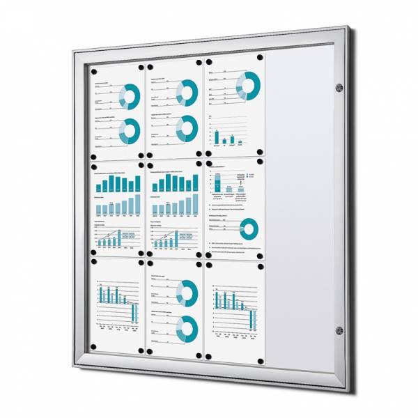 Informačná vitrína Economy 12xA4, plechová zadná stena, atest B1